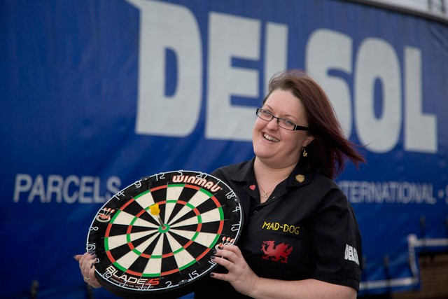 Darts champ on target thanks to sponsorship by delivery company Delsol